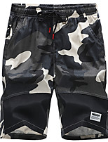 cheap -Men's Hiking Shorts Hiking Cargo Pants Outdoor Breathable Ventilation Soft Sweat-wicking Cotton Shorts Black Camouflage M L XL XXL XXXL