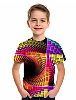 cheap -Kids Boys' Sports & Outdoors Basic Holiday Color Block Short Sleeve Tee Rainbow