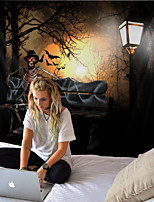 cheap -Tapestry halloween horror sofa skull ghost home decoration wall hanging quilt big tablecloth party decoration