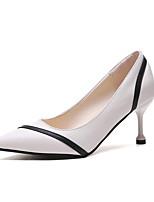 cheap -Women's Heels Summer Kitten Heel Pointed Toe Minimalism Daily Color Block PU Black / Beige