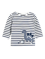 cheap -Kids Boys' Basic Dinosaur Striped Animal Print Long Sleeve Tee Rainbow