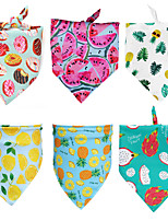 cheap -Dog Cat Bandanas & Hats Dog Bandana Dog Bibs Scarf Fruit Casual / Sporty Cute Party Sports Dog Clothes Breathable White Yellow Dark Green Costume Polyster S M