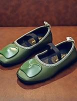 cheap -Girls' Flats Comfort PU Little Kids(4-7ys) Green / Beige Summer