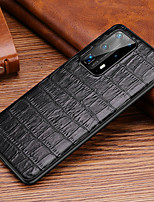 cheap -Case For Huawei HUAWEI P40  HUAWEI P40 PRO  HUAWEI P40 Pro plus Shockproof   Back Cover Solid Colored Genuine Leather  TPU