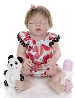 cheap -KEIUMI 22 inch Reborn Doll Baby & Toddler Toy Reborn Toddler Doll Baby Girl Gift Cute Lovely Parent-Child Interaction Tipped and Sealed Nails Full Body Silicone 23D36-C294-H03-T10 with Clothes and