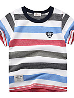 cheap -Kids Boys' Street chic Striped Short Sleeve Tee Rainbow