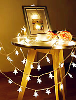 cheap -3M 20LED Star String Light Twinkle Garlands Battery Powered LED Fairy Lights For Christmas Wedding Holiday Party Decorative Lamp Without Battery