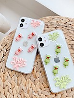 cheap -Apple Case For Apple iPhone 11  iPhone 11 Pro  iPhone 11 Pro Max Translucent  Lovely Frog Back Cover  Cartoon TPU