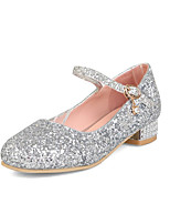cheap -Girls' Flats Flashing Shoes Synthetics Sequins Big Kids(7years +) Rhinestone / Buckle / Sequin Gold / Silver Spring / Fall
