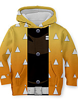 cheap -Kids Toddler Boys' Active Street chic Geometric 3D Print Long Sleeve Hoodie & Sweatshirt Yellow