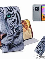 cheap -Case For Samsung Galaxy S20 Galaxy S20 Plus Galaxy S20 Ultra Wallet Card Holder with Stand Full Body Cases Tiger PU Leather TPU for Galaxy A51 A71 A70E A81 A91 A11 A31 A41 A21