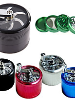 cheap -4 Layers Herb Tobacco Spice Weeds Grass Aluminium Grinder Smoke Crusher Hand Crank Muller Mill Pollinator Smoking Accessories