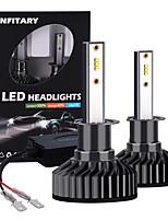 cheap -Infitary 2pcs H1 LED ZES Chip High Power Car Headlight 72W 6500K Pure White Light Auto LED Car Bulbs