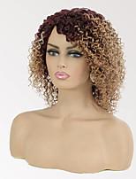 cheap -Remy Human Hair Wig Short Jerry Curl Pixie Cut Multi-color Fashion Capless Brazilian Hair Women's 12 inch