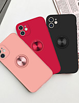 cheap -Case For Apple iPhone 7 iPhone 7P iPhone 8 iPhone 8P iPhone X iPhone iPhone XS iPhone XR iPhone XS max iPhone 11 iPhone 11 Pro 11 Pro Max iPhoneSE (2020) Ring Holder Back Cover Solid Colored TPU