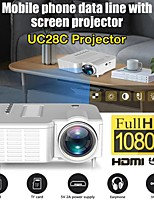 cheap -UC28C Portable Video Projector Office Supplie LCD Mini Projector Media Player For Smart Phones