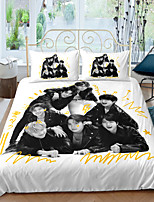 cheap -Home Textiles 3D Bedding Set  Duvet Cover with Pillowcase 2/3pcs Bedroom Duvet Cover Sets  Bedding BTS