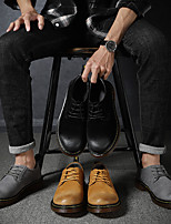 cheap -Men's Summer / Fall Business / Vintage / British Office & Career Oxfords Nappa Leather Breathable Wear Proof Black / Brown / Gray