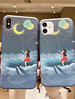 cheap -Case For APPLE  iPhone 6 7 8 6plus 7plus 8plus  XR XS XSMAX  X SE  11  11Pro   11ProMax Pattern Back Cover Little Girl Cartoon TPU