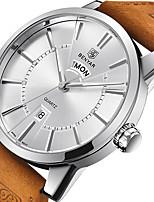 cheap -BENYAR Men's Sport Watch Quartz Modern Style Stylish Stainless Steel Leather Water Resistant / Waterproof Calendar / date / day Day Date Analog Casual Minimalist - Black / Silver White+Silver Black