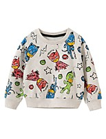 cheap -Kids Boys' Basic Animal Print Long Sleeve Hoodie & Sweatshirt Rainbow