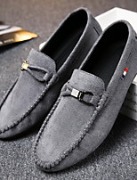 cheap -Men's Summer / Fall Casual Daily Loafers & Slip-Ons Faux Leather / PU Non-slipping Wear Proof Black / Gray