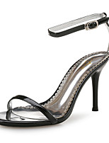 cheap -Women's Sandals Spring Fall Pumps Open Toe Party & Evening Office & Career Patent Leather White / Black