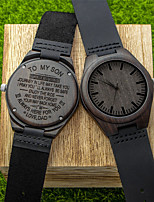 cheap -Men's Sport Watch Quartz Modern Style Stylish Casual Water Resistant / Waterproof Leather Analog - Black