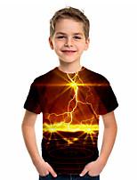 cheap -Kids Boys' Sports & Outdoors Basic Holiday Jacquard Short Sleeve Tee Black