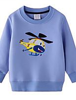 cheap -Kids Boys' Street chic Geometric Long Sleeve Hoodie & Sweatshirt Light Blue