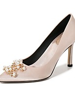 cheap -Women's Heels Summer Pumps Pointed Toe Daily Solid Colored PU Red / Champagne