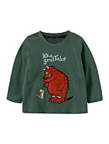 cheap -Kids Boys' Basic Animal Print Long Sleeve Tee Green