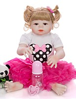 cheap -KEIUMI 22 inch Reborn Doll Baby & Toddler Toy Reborn Toddler Doll Baby Girl Gift Cute Washable Lovely Parent-Child Interaction Full Body Silicone 23D114-C107-H20-T11 with Clothes and Accessories for