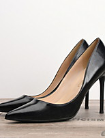 cheap -Women's Heels Summer Stiletto Heel Pointed Toe Daily PU Black / Brown