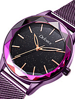 cheap -DOM Women's Steel Band Watches Quartz Modern Style Stylish Luxury Water Resistant / Waterproof Stainless Steel Rose Gold Analog - Rose Gold Purple / Japanese / Japanese