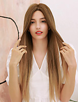 cheap -Synthetic Wig Yaki Straight Natural Straight Middle Part Side Part Wig Very Long Ombre Blonde Ombre Brown Synthetic Hair 28 inch Women's Cosplay Ombre Hair Middle Part Brown Ombre BLONDE UNICORN