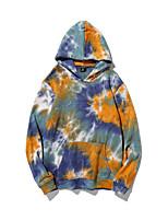 cheap -Women's Pullover Hoodie Sweatshirt Tie Dye Casual Hoodies Sweatshirts  Cotton Loose Blue