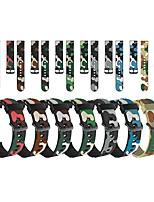 cheap -22MM for Fossil Gen 5 Carlyle /Fossil Gen 5 Julianna / Fossil Gen 5 Garrett / Fossil Gen 5 Carlyle HR / Fossil Men's Gen 4 Explorist HR /Fossil Strap Camouflage Silicone Watchband Watch Band Bracelet