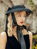 cheap -Headwear Elegant Flax Headwear with Lace 1pc Special Occasion / Party / Evening Headpiece