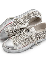cheap -Women's Sneakers Spring Summer Flat Heel Round Toe Daily PU Silver