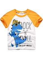 cheap -Kids Boys' Basic Color Block Print Long Sleeve Tee Blue