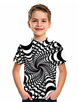 cheap -Kids Boys' Sports & Outdoors Basic Holiday Geometric Print Short Sleeve Tee Black