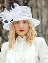cheap -Headwear Elegant Organza Hats with Feather / Bowknot 1pc Wedding / Party / Evening Headpiece