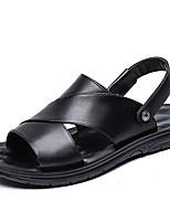 cheap -Men's Summer Outdoor Sandals PU Black / Brown