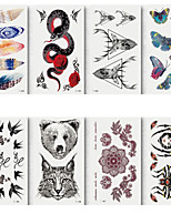 cheap -6 Sheets Randomly Tattoo Designs Temporary Tattoos Small Size Tattoo Stickers Waterproof And Environmentally Colorful Feather Butterfly Snake Deer Pattern Design Tattoo Stickerst161-168