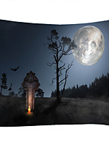cheap -Skull Head Under The Moon And Dead Tree Stele Classic Theme Wall Decor 100% Polyester Contemporary Wall Art Wall Tapestries Decoration