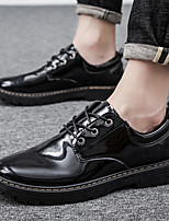 cheap -Men's Summer / Fall Casual / British Daily Office & Career Oxfords Faux Leather Breathable Non-slipping Wear Proof Black