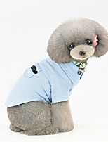 cheap -Dog Shirt / T-Shirt Pajamas Solid Colored Casual / Sporty Cute Casual / Daily Festival Dog Clothes Warm Blue Pink Costume Cotton S M L XL XXL
