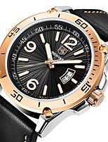cheap -BENYAR Men's Sport Watch Quartz Modern Style Stylish Casual Water Resistant / Waterproof Leather Analog - White+Blue Black+Gloden Black / Calendar / date / day