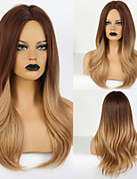 cheap -Synthetic Wig kinky Straight Layered Haircut Wig Medium Length Synthetic Hair 20 inch Women's Fashionable Design Cute Women Blonde